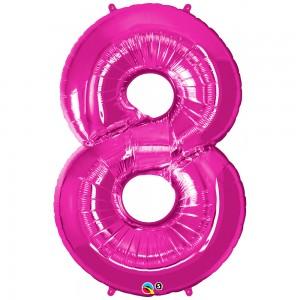 balon-folie-cifra-8-roz-86cm-qualatex-30596